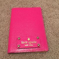 Bright pink Kate spade passport holder Bright pink Kate spade passport holder. Never used kate spade Bags