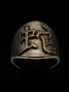 SHINING BRONZE MENS ZODIAC COSTUME RING CHINESE LETTER SNAKE SYMBOL Zodiac Rings, Costume Rings, Bronze Ring, Sagittarius, Snake, Baseball Hats, Chinese, Symbols, Costumes