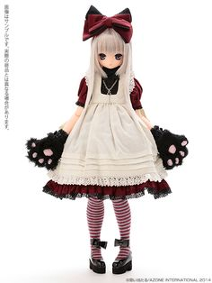 えっくす☆きゅーと10th Best Selection:Classic Alice Chershire cat AIKA(あいか)(ぽよ口ver.) 髪色:MistySilver