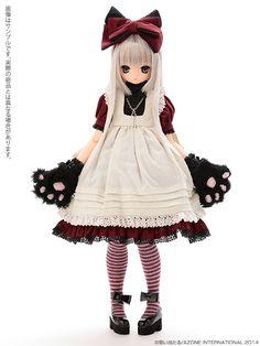 えっくす☆きゅーと10th Best Selection:Classic Alice Chershire cat AIKA(あいか)(ぽよ口ver.) 髪色:MistySilver