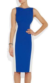 Antonio Berardi Color-block crepe dress NET-A-PORTER.COM #vegan
