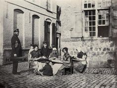 Groupe de dentellières (lace makers), 1853