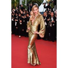 Sometimes i have to take a moment to address perfection on @natashapoly in @michaelkors in Cannes #geneticallyblessed #WOW #Icanteven #glamouratitsbest