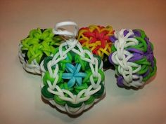 Kaleidoscope Turtle Shell Charm Tutorial by feelinspiffy (Rainbow Loom) - YouTube