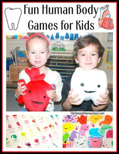 Human Body Games for Kids - The Natural Homeschool Human Body Activities, Science Activities For Kids, Games For Kids, Science Experiments, Preschool Themes, Stem Activities, Educational Activities, Homeschool Science Curriculum, Homeschooling