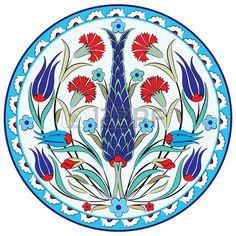 YAY Images - oriental ottoman design seven version by antsvgdal Turkish Tiles, Turkish Art, Tattoo Oriental, Turkish Pattern, Pottery Painting Designs, Ottoman Design, Turkish Design, Boho Home, Islamic Art