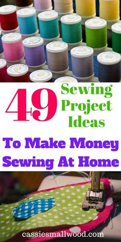 These 49 diy sewing project ideas are perfect to make money sewing at home if you wan to have an online business selling on Etsy, on your own website, or at craft fairs. Create your own unique products and have your own online sewing business from home. S Diy Projects To Sell, Sewing Projects For Beginners, Diy Crafts To Sell, Sell Diy, At Home Projects, Craft Fair Ideas To Sell, Crafts To Make And Sell Unique, Craft Ideas, Craft Projects