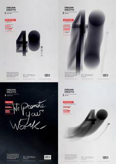 Erbgħin Kreattiv Magazine Covers by Andrew Carter, via Behance