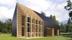 현대적인 감각이 뛰어난 모던형 목조주택 사진입니다.