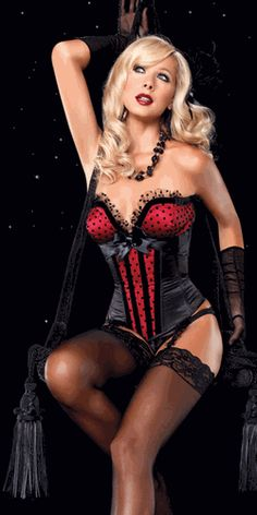Negligee Corset and beautiful stockings