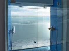 Glass-sided showers ensure the ocean views and fresh sea air are always present.
