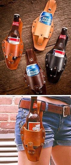 beer holder. I need this.  <-crazy. Too lazy to hold it? And of course it's advertised on short shorts