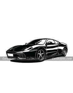 Ferrari 360, Car Vector, Laser Engraving, Luxury Cars, Innovation, Vector Illustrations, Art, Pictogram, Egyptian