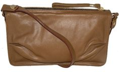 Tre Vero Link Hardware Fawn Brown Evening Leather Bag Tre...…