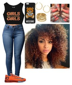 """""""Untitled #417"""" by queen-ayanna on Polyvore featuring Moschino and ABS by Allen Schwartz"""