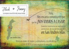 Había una vez...otra vez: Invitación para boda en la playa. San Andrés Colombia.