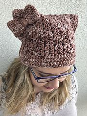 This pattern is written so that you can make any size you require. From baby, all the way to adult. You can use any yarn weight and any size hook appropriate to your yarn choice. That is what is so great about this pattern. Cat Hat, All The Way, Ravelry, Knitted Hats, Rabbit, Winter Hats, Kitty, Knitting, Cats