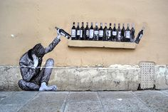 Realistic Wheat-Pasted Figures Playfully Interact with Parisian Streets - My Modern Met