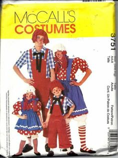 McCall's 3751 Adult Raggedy Ann and Andy Costumes Sewing Pattern Adult Size S-XL (Chest 32.5-44) McCall's,http://www.amazon.com/dp/B00H7IFUKI/ref=cm_sw_r_pi_dp_Q3FQsb0X69XAEGPQ