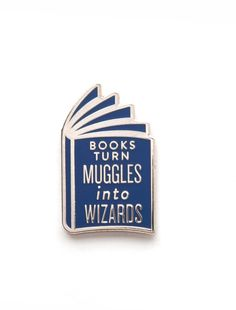 Gotta love enamel pins about books. and Harry Potter :)