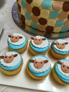 Little Lamb Boys Baby Shower Themed Party Cupcake Ideas