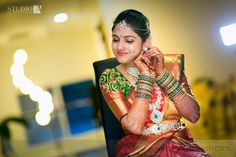 Beautiful south indian bride. Visit ShaadiSImplified.com for Photographers to capture such lovely moments.