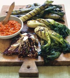 Grilled Vegetables with Romesco 3 Ways
