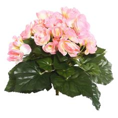 Artificial Begonia Bush (9.5) Pink - Vickerman, Light Pink