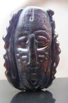 Into the Fire Lampwork Art Beads ~Iron Man~ Artist handmade glass focal mask SRA Into The Fire, Beads For Sale, Bead Art, Iron Man, Glass Beads, Jewelry Making, Artist, Crafts, Handmade