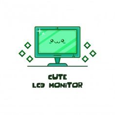 Lcd Monitor, Vector Design, Cartoon Characters, Letters, Cute, Cartoon Caracters, Kawaii, Lettering, Anime Characters