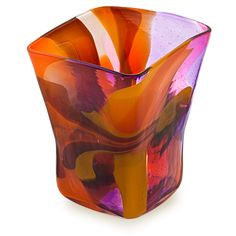 Naia Pot Vase. Purchase direct with international shipping: https://www.mdinaglass.com.mt/eshop-online/vases-bowls/naia/nai-336.html