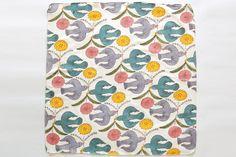 鹿児島睦 鳥と花 ハンカチ | monsen