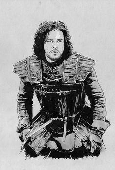 Jon Snow / Games of Thrones by jasonbaroody.deviantart.com on @DeviantArt