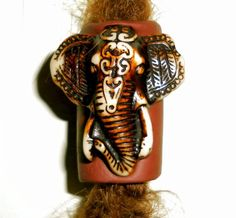 ganesha elephant dreadlock bead by seididread on Etsy, €10.00