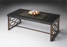 Another option for LR Cocktail Table..........love the pebbles in the center of the table!