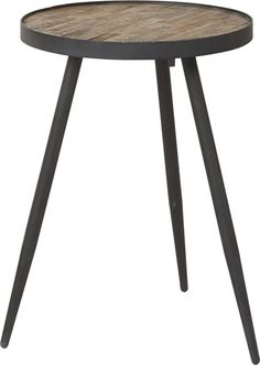 DORO Soffbord trä natur metall 40x40x59