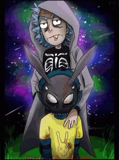 Rick and Morty Donnie Darko (plz stop stealing it by MeLiNaHTheMixed on DeviantArt Rick And Morty Drawing, Rick And Morty Tattoo, Rick And Morty Quotes, Rick And Morty Poster, Iphone Wallpaper Rick And Morty, Rick Und Morty, Ricky Y Morty, Rick And Morty Characters, Fan Art