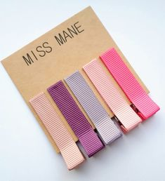 5 Fringe Clips | Mauve, Thistle, Amethyst, Shocking Pink, Peony Pink  Miss Mane ribbon clips are comfortable, stylish and practical! We use the finest materials. Our clips are lead free + nickel free.  Perfect for sweeping that fringe out of the way or taming wispy hair on the front, back and sides :)  Our ribbon clips come complete with our unique no slip grip - Excellent for fine hair. If you prefer a fully lined clip just let us know. Pink Purple Hair, Wispy Hair, Toddler Hair Clips, Fine Hair, Lead Free, Peony, Mauve, Girl Hairstyles, Amethyst