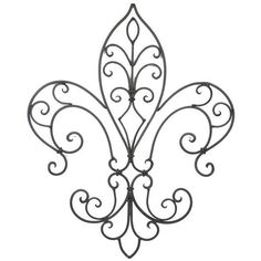 Wrought Iron pattern - easily recreated in filigree or paper quilling