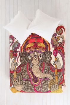 Valentina Ramos For DENY Lord Ganesha Duvet Cover
