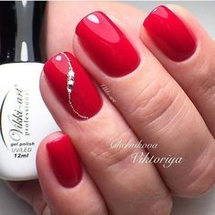 60 Stylish Nail Designs for Nail art is another huge fashion trend besides the stylish hairstyle clothes and elegant makeup for women. Nowadays there are many ways to have beautiful nails with bright colors different patterns and styles. Elegant Nail Designs, Elegant Nails, Stylish Nails, Nail Art Designs, Elegant Makeup, Nails Design, Red Nail Art, Red Nail Polish, Red Nails