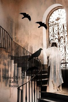Gothic Surreal Photos  Ravens Crows Grim Reaper by KathyFornal, $28.00