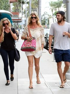 Rachel Hunter is seen out and about in Los Angeles.  Nick Smith, BuzzFoto via Getty Images