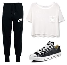"""""""Untitled #76"""" by rbanahi on Polyvore featuring NIKE, MANGO and Converse"""
