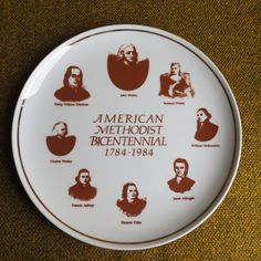 New to BigfootCountryTrader on Etsy: Methodist Collector Plate- Bicentennial American Methodism 1784-1984- RARE (15.00 USD)