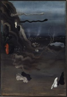 surrealism painting, by Yves Tanguy