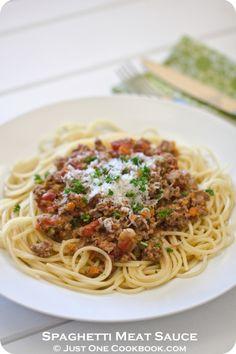 Spaghetti Meat Sauce | Easy Japanese Recipes at JustOneCookbook.com