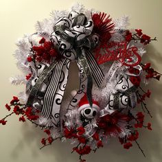 Nightmare Before Christmas Wreath 2015