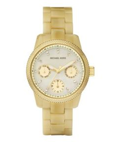 Michael Kors Watch, Women's Acetate Horn Bracelet 33mm MK5400 - For Her - Jewelry & Watches - Macy's - $225
