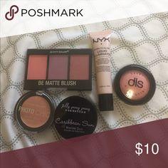 Bundle of makeup! Highlighter - 1 liquid, 1 baked; Dark spot corrector; Bronzer duo; Be Matte blush Makeup Foundation